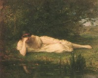 At the Water's Edge, study (1864)