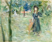 Bois de Boulogne / Artist's Daughter and Her Dog