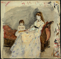 The Artist's Sister Edma with Her Daughter Jeanne (1872)