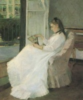 The Artist's Sister at a Window / Young Woman Seated at a Window / Portrait of Edma Pontillon (1869)