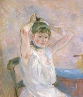 The Bath / Girl Arranging Her Hair / Isabelle Lambert (1885-1886)