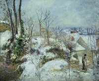 Rabbit Warren at Pontoise, Snow (1879)