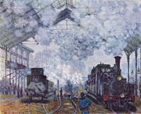 Gare St. Lazare, Arrival of a Train (1877)