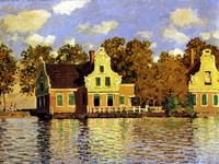Houses on the Zaan River at Zaandam (1871)