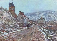Street near Vétheuil in Winter (1879)