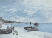 The Beach at Sainte-Adresse (1867)