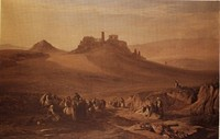 The Acropolis of Athens, Sunrise, Peasants assembling on the Road to Piraeus