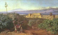 View of Reggio and the Straits of Messina (1852)