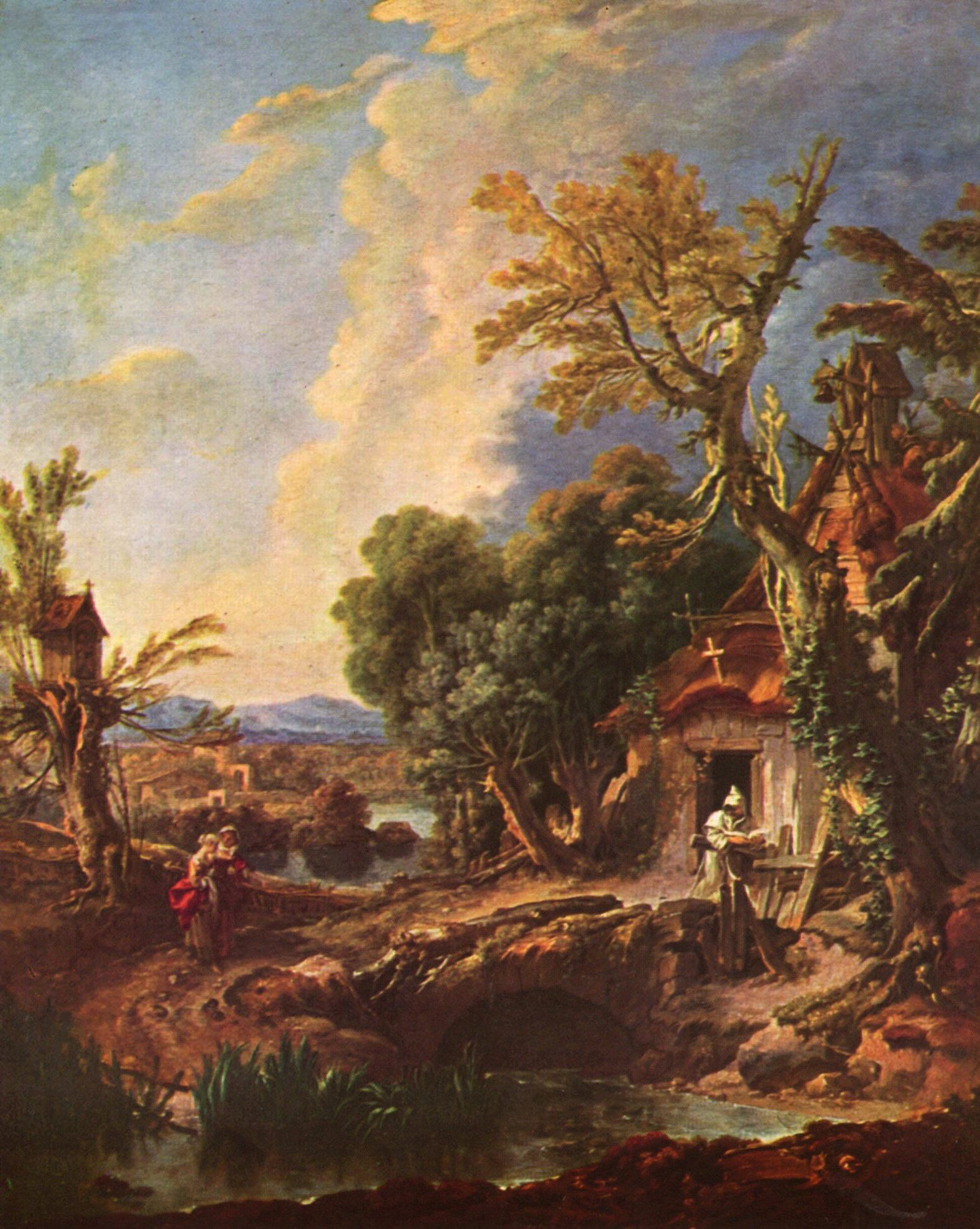 French Rococo Artist Who Painted The Dovecote