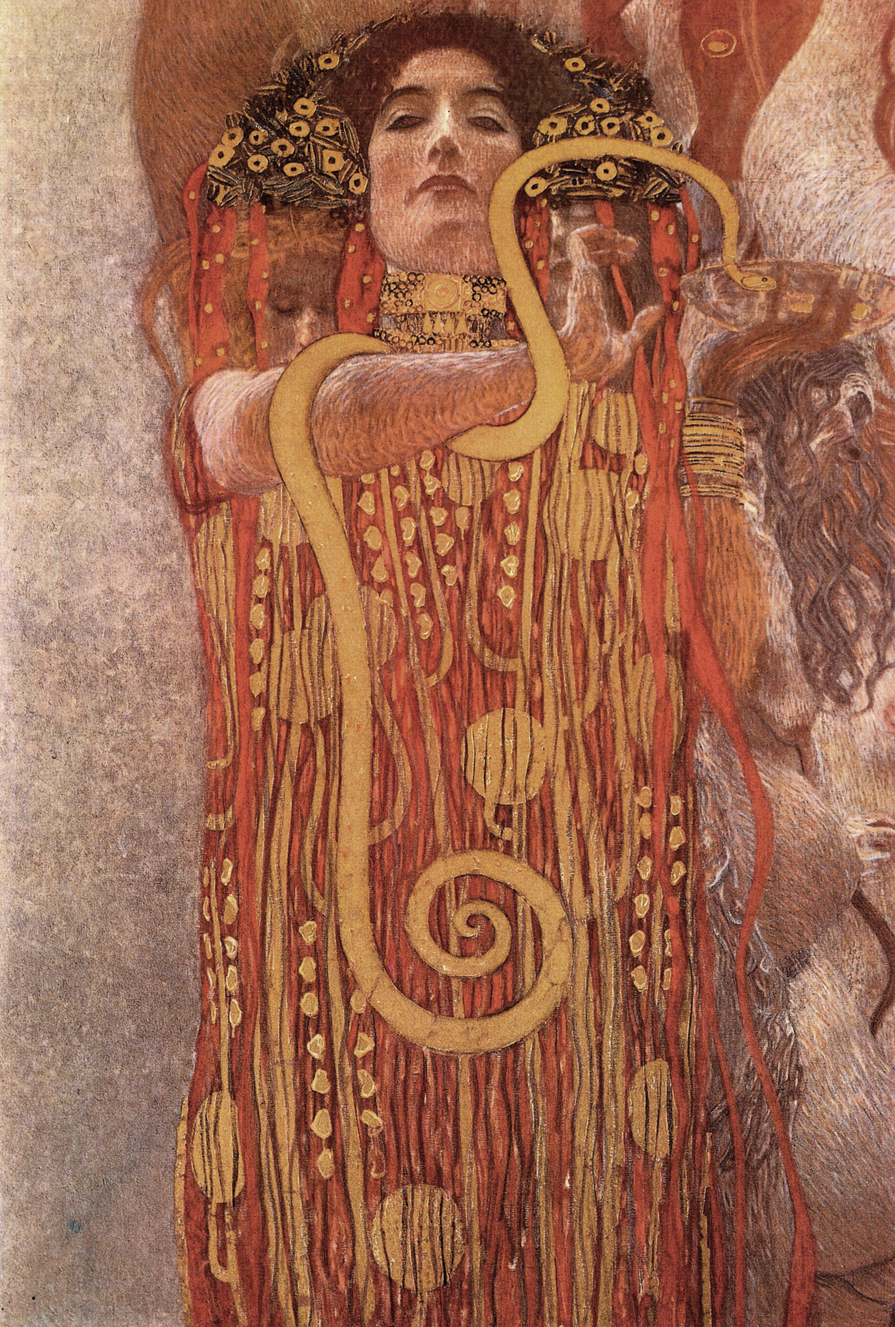 Medicine (Hygieia) (detail), Klimt - the angels wanna wear ...