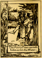 The Merry Adventures of Robin Hood of Great Renown in Nottinghamshire - The Merry Friar Carrieth Robin Across the Water (1883)