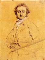 Portrait of Niccolo Paganini with Violin