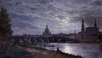 View of Dresden at Full Moon (1839)