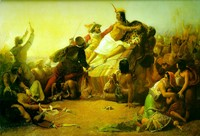 Pizarro Seizing the Inca of Peru (1846)
