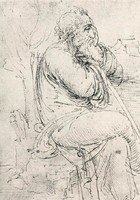 Seated Old Man, study