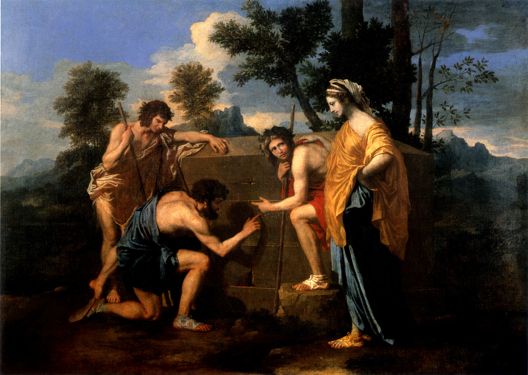 Et in arcadia ego [the shepherds of arcadia] (1637-1639)