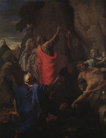 Moses Strikes Water from a Rock (1649)
