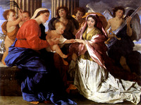 Mystic Marriage of Saint Catherine (c. 1627-1630)