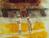 Baseball Players Practicing (1875)