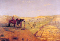 Cowboys in the Badlands (1888)
