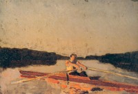 Max Schmitt in a Single Scull, sketch (1874)