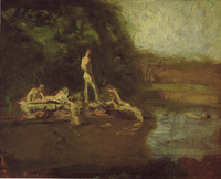 The Swimming Hole, study (1884)