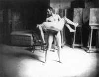Thomas Eakins Carrying a Nude Woman II (1883-1885)