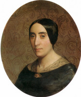 A Portrait of Amelina Dufaud Bouguereau (1850)