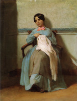 A Portrait of Léonie Bouguereau (1850)