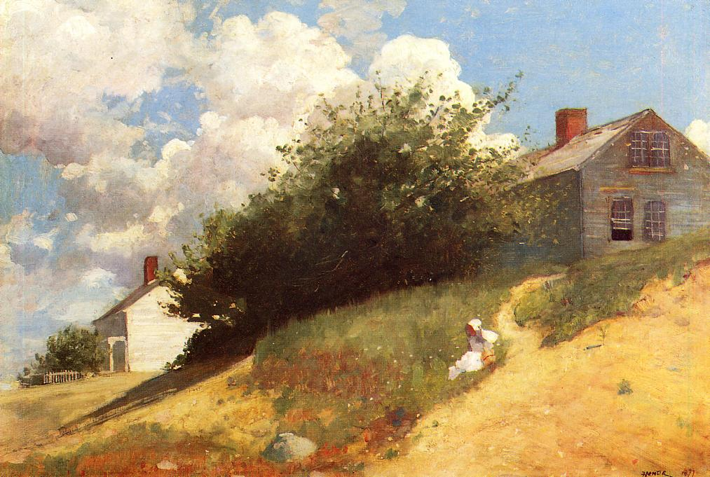 Landscape on pinterest landscape paintings oil on for Oil paintings of houses